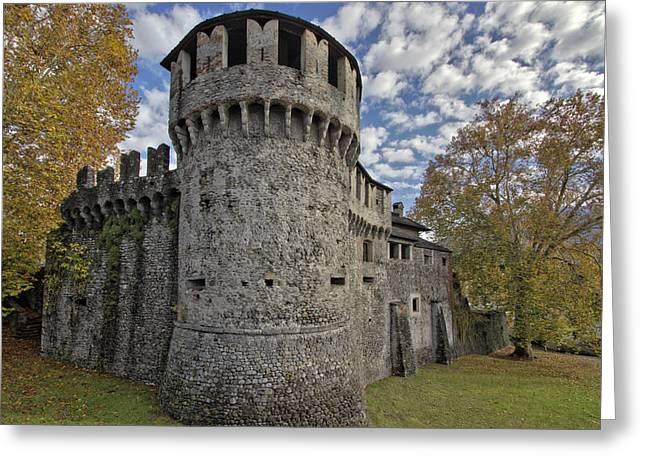 Visconteo Castle In Locarno Canton Of Ticino Greeting Card by Chris ALC