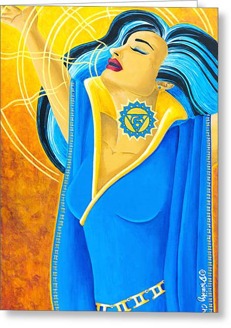 Vishuddha Throat Chakra Goddess Painting By Divinity
