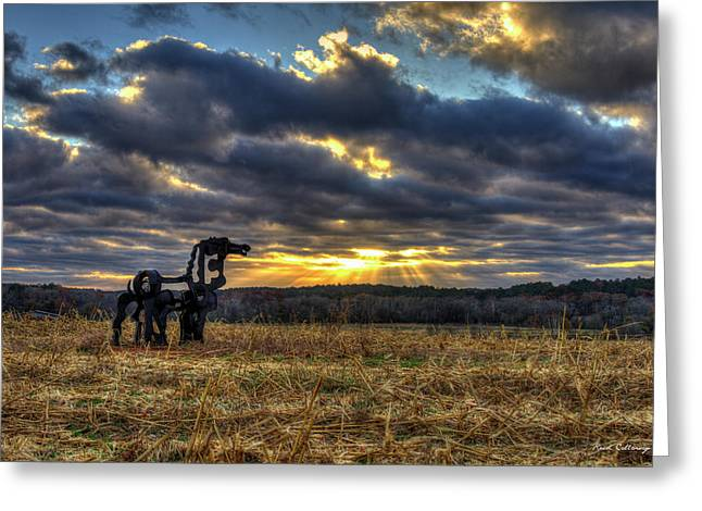 Visible Light The Iron Horse Sunrise Art Greeting Card
