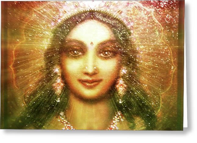 Vision Of The Goddess  Greeting Card by Ananda Vdovic