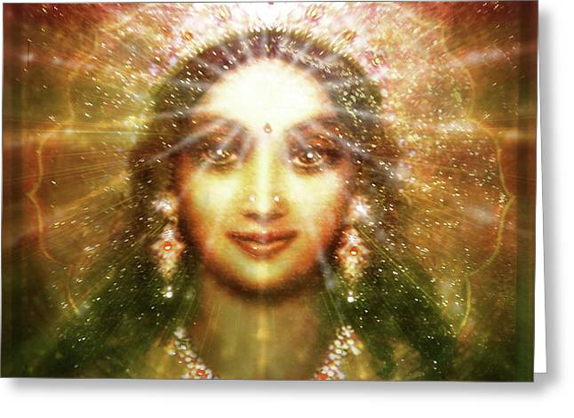 Vision Of The Goddess - Light Greeting Card
