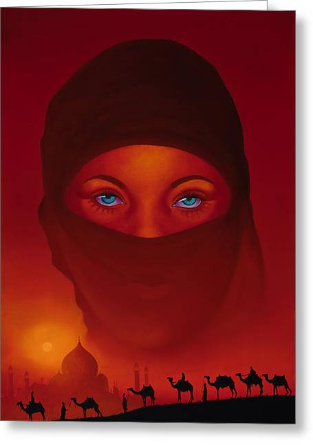 Arabia Greeting Cards - Vision Greeting Card by Tim Dangaran