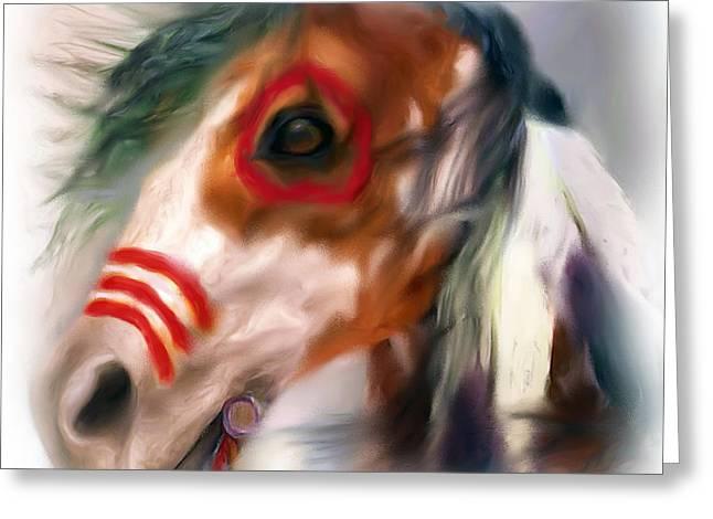 Visionary War Horse Greeting Card