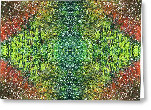 Visions Of The Spiritual Seeker #1463 Greeting Card by Rainbow Artist Orlando L aka Kevin Orlando Lau