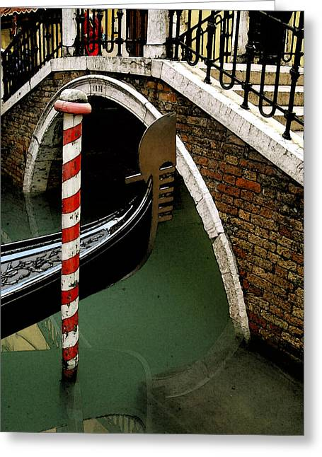 Visions Of Venice 1. Greeting Card by Nancy Bradley