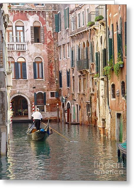 Visions Of Venice 2. Greeting Card by Nancy Bradley