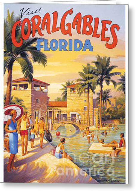 Visit Coral Gables-florida Greeting Card