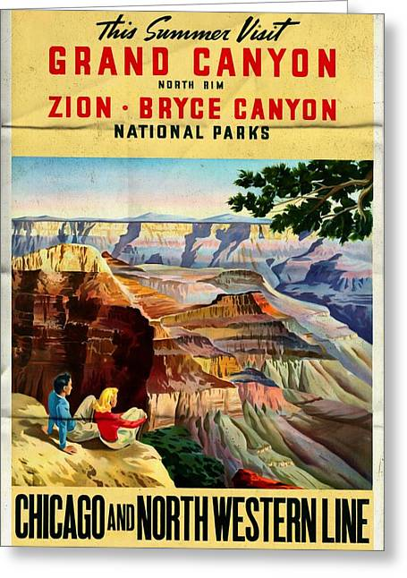 Visit Grand Canyon - Folded Greeting Card