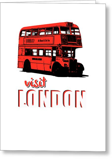Visit London Tee Greeting Card by Edward Fielding
