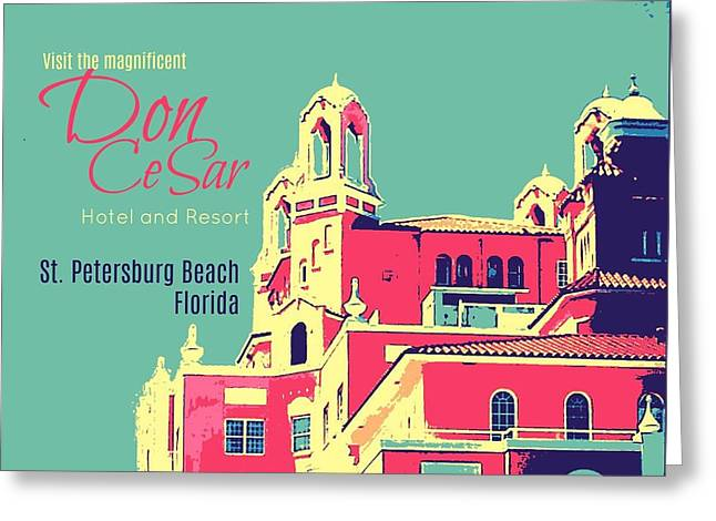 Visit The Don Cesar Greeting Card