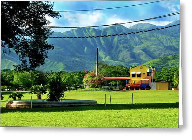 Vista Del Ferrocalejo En Rincon Grande Greeting Card