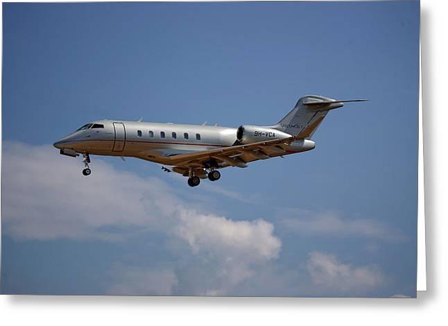 Vista Jet Bombardier Challenger 300 4 Greeting Card
