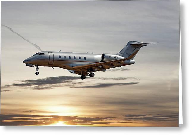 Vista Jet Bombardier Challenger 300 Greeting Card