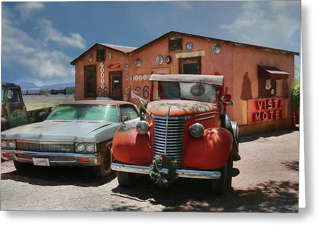 Greeting Card featuring the photograph Vista Motel by Lori Deiter