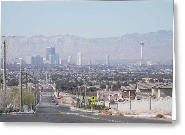 Vista Vegas Greeting Card