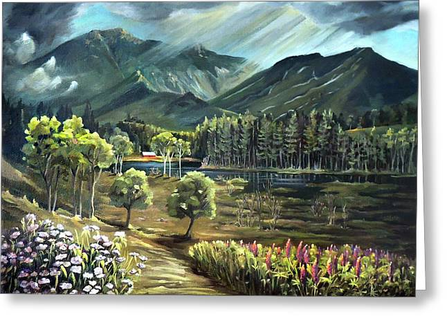 Vista View Of Cannon Mountain Greeting Card