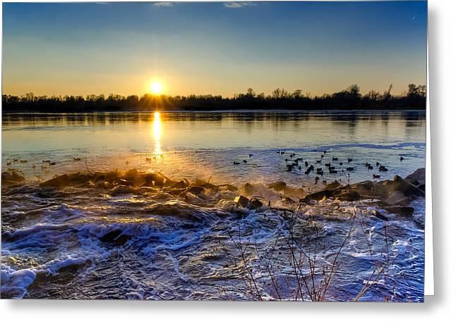 Vistula River Sunset 3 Greeting Card