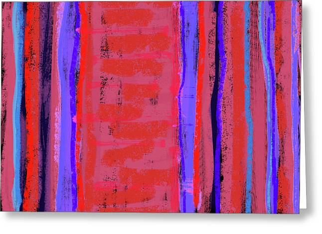 Repetition Paintings Greeting Cards - Visual Cadence XXII Greeting Card by Julie Niemela