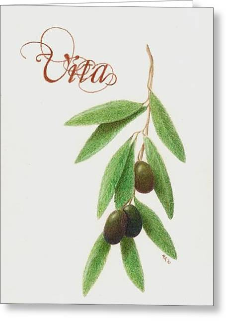 Vita Greeting Card by Mary Rogers
