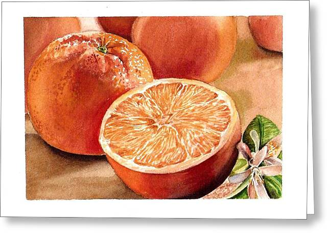 Groceries Greeting Cards - Vitamin C Greeting Card by Irina Sztukowski