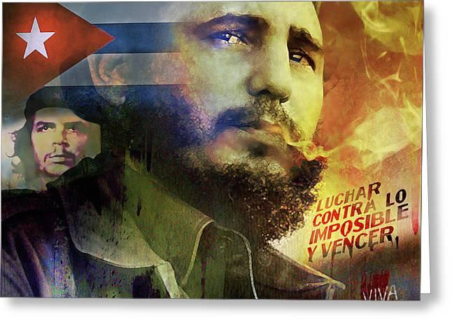 Viva Fidel Greeting Card