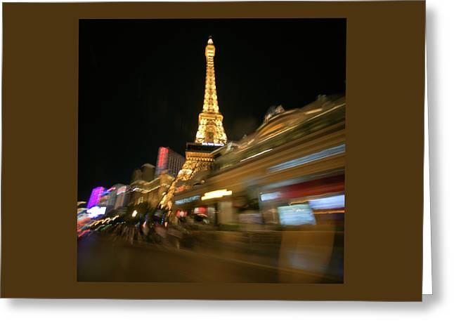 Viva La Tour Eiffel--las Vegas Greeting Card