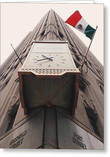 Viva Mexico In Detroit Greeting Card by Stephen Crosson