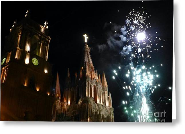 Viva San Miguel De Allende Greeting Card by Barbie Corbett-Newmin