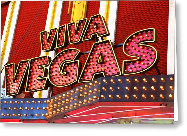 Viva Vegas Greeting Card by Art Block Collections