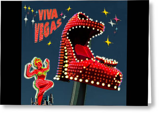 Viva Vegas Greeting Card