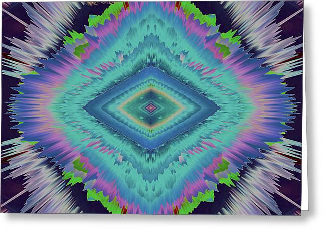 Exponential Flare 2 Greeting Card by Colleen Taylor