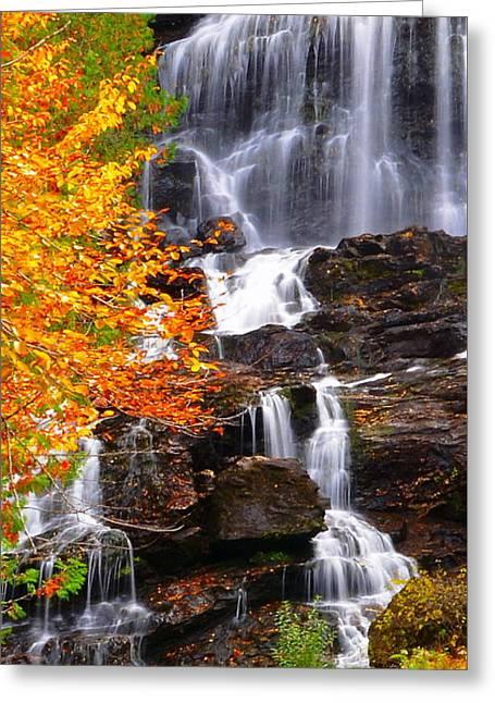 Vivid Falls Greeting Card
