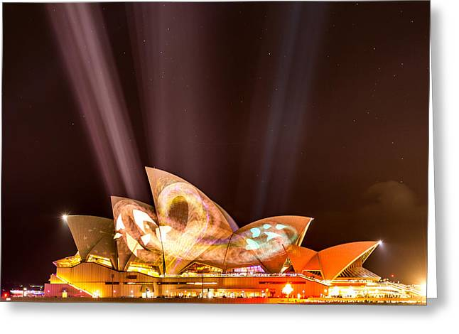 Vivid Opera House Greeting Card