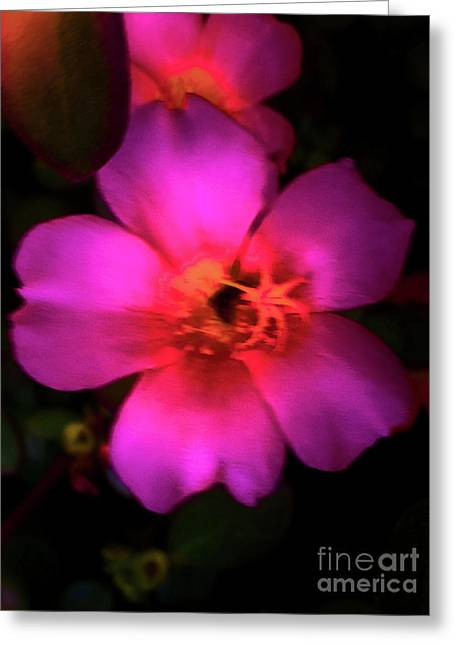 Vivid Rich Pink Flower Greeting Card