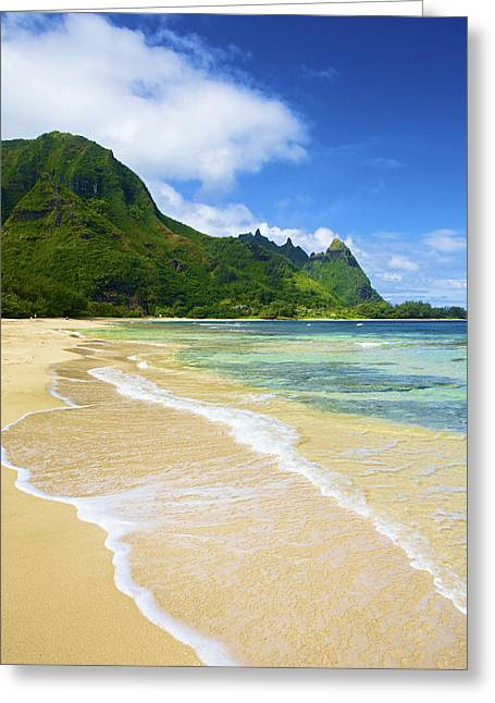 Vivid Tunnels Beach Greeting Card
