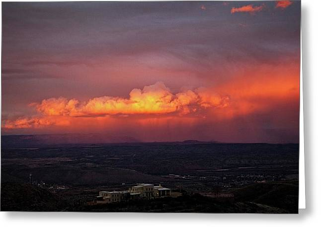 Greeting Card featuring the photograph Vivid Verde Valley Sunset by Ron Chilston