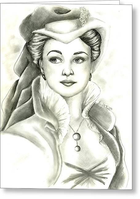 Vivien Greeting Card by Scarlett Royal