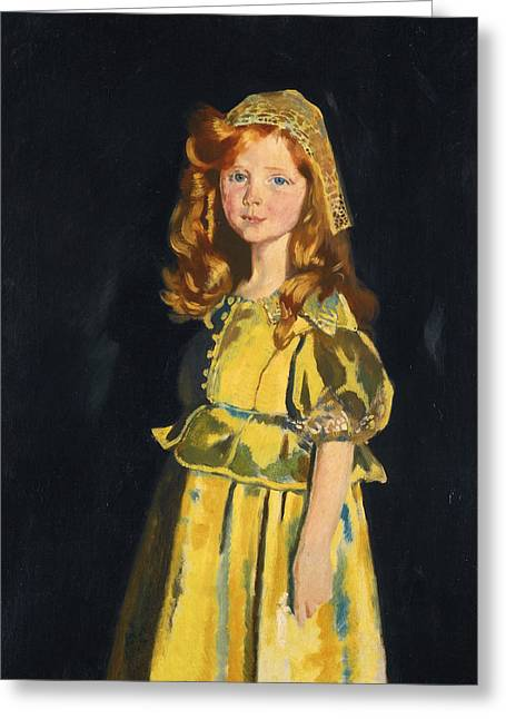 Vivien St George Greeting Card by William Orpen