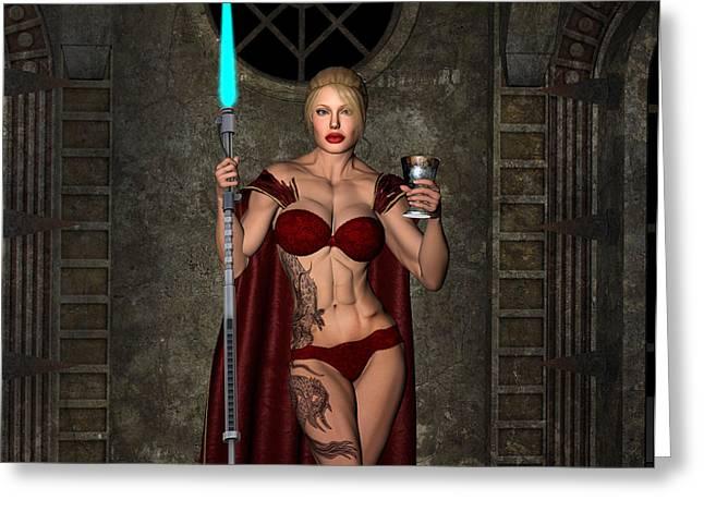 Vixen Warrior Series 01 Greeting Card