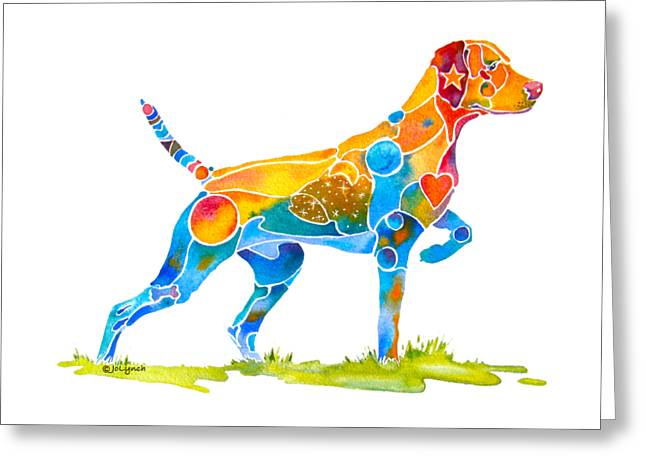 Vizsla On Point Greeting Card
