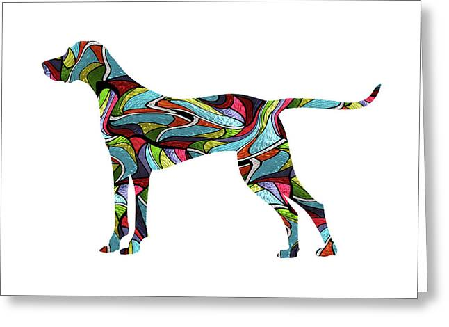 Vizsla Spirit Glass Greeting Card