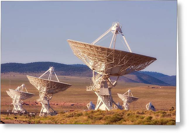 Vla Radio Telescopes - Socorro -  Nm Greeting Card