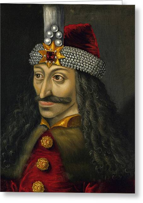 Vlad The Impaler Portrait  Greeting Card by War Is Hell Store