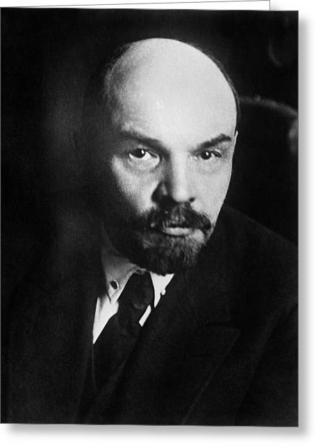 Vladimir Lenin Portrait Greeting Card