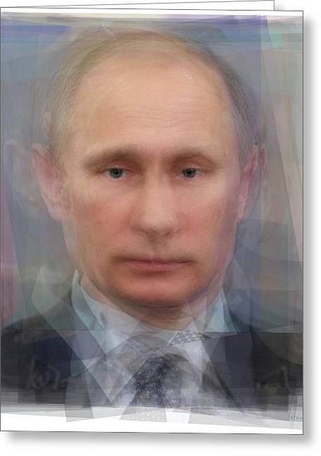 Vladimir Putin Portrait Greeting Card