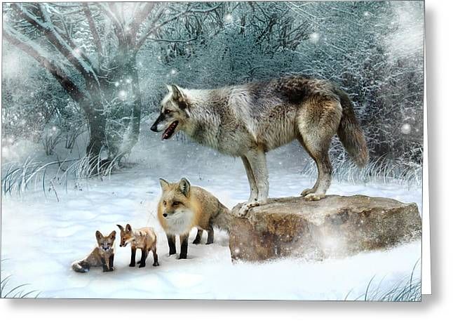 Vladimir Vanessa And The Vixens  Greeting Card by Julie L Hoddinott