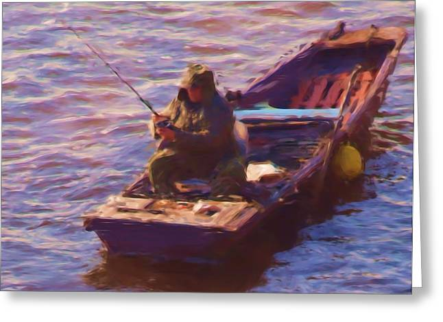 Vltava Fishing Greeting Card by Shawn Wallwork