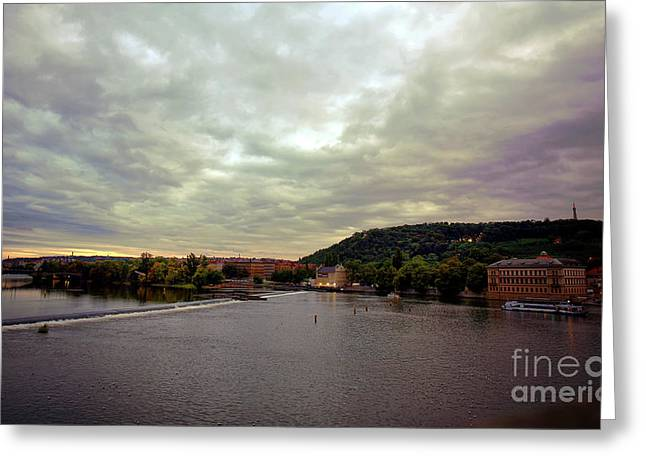 Vltava View 1 Greeting Card by Madeline Ellis