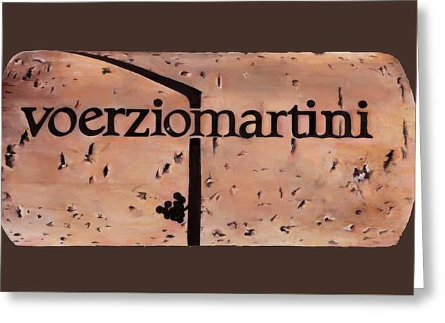 Voerziomartini Greeting Card by Danka Weitzen