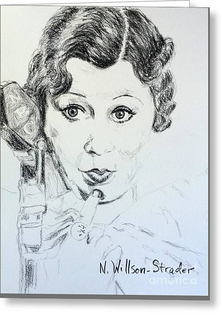 Voice Over Artist, Mae Greeting Card by N Willson-Strader